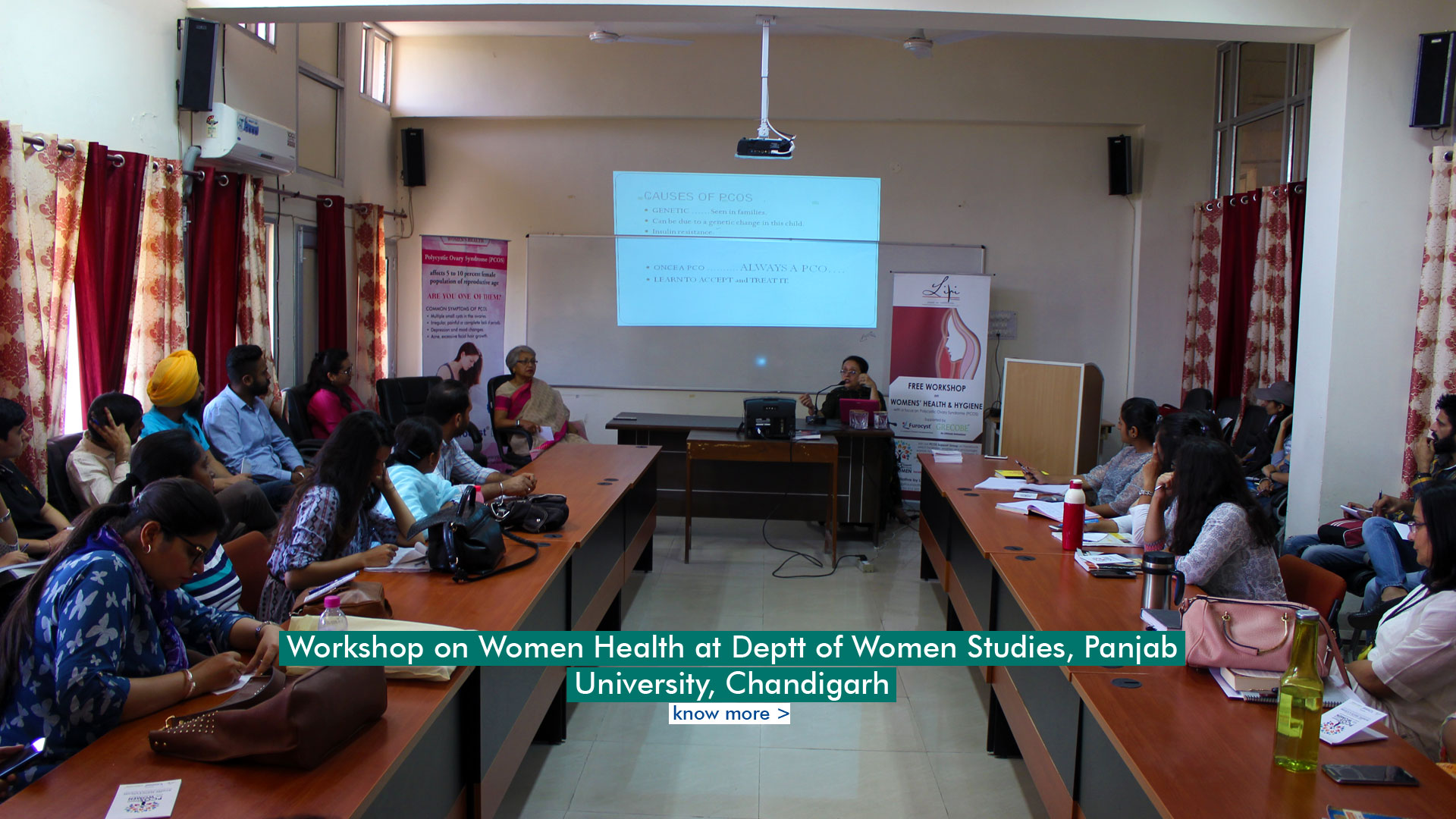 Workshop on Women Health & PCOS at Deptt. Of Women Studies, Panjab University, Chandigarh