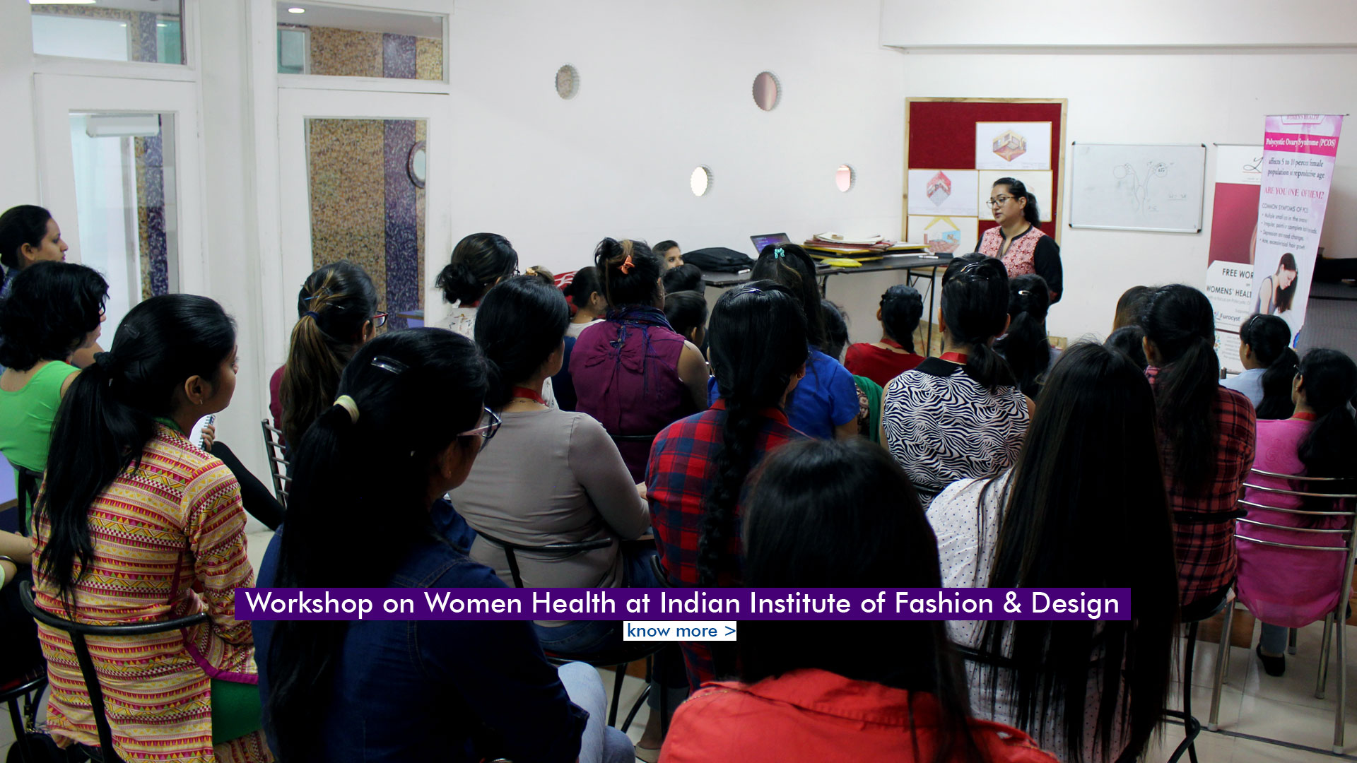 Workshop on Women Health & PCOS at Indian Institute of Fashion & Design (IIFD), Chandigarh